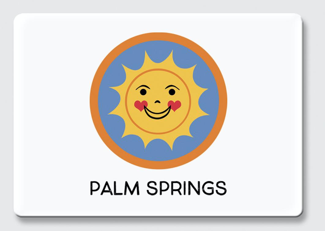 Palm Springs Happy Sun Palm Springs Magnet