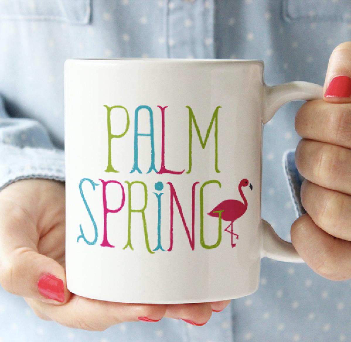 Palm Springs Flamingo Palm Springs Mug
