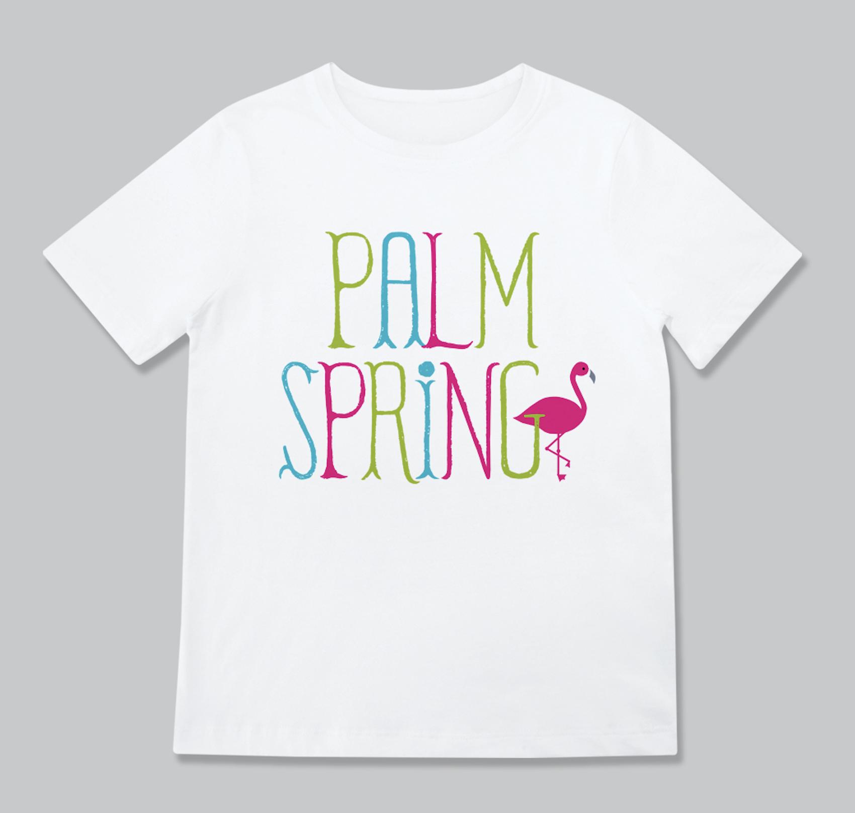 Rock Scissors Paper Flamingo Palm Springs Toddler Tee