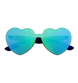 Heart Sunnies Midnight Iridescent