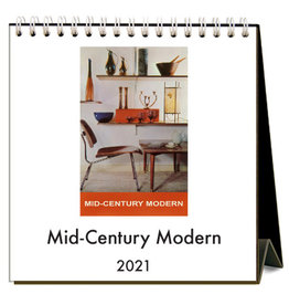 Found Image Press 2021 Mid-Century Modern Easel Desk Calendar