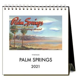 Found Image Press 2021 Palm Springs Retro Easel Desk Calendar