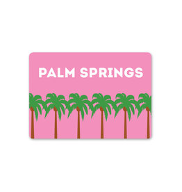 Palm Springs Pink Palm Trees Magnet