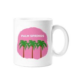 Palm Springs Pink Palm Trees Mug