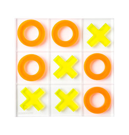 Lucite Tic Tac Toe Neon Orange