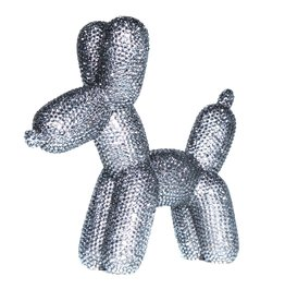 Graphite Rhinestone Balloon Dog Bank