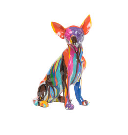 "Graffiti Chihuahua - 10"" Tall (Sitting)"