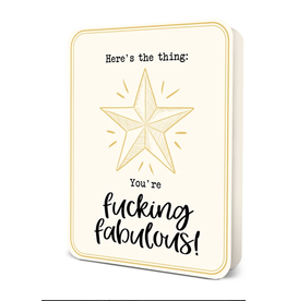 You're Fucking Fabulous! Blank Greeting Card