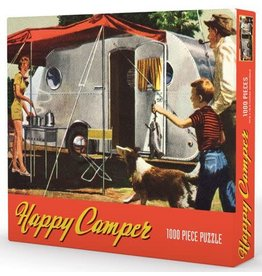 Palm Springs Retro Happy Camper Jigsaw Puzzle
