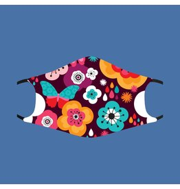Fashion Face Mask - Retro Floral - Adult