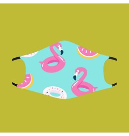 Fashion Face Mask - Flamingo Pool Floats - Adult
