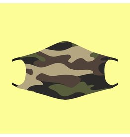 Fashion Face Mask - Green Camo - Adult