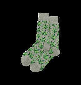 Weed Leaves Grey Men's Socks