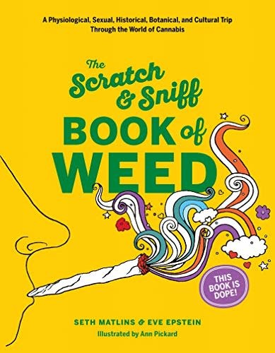 Scratch and Sniff Book of Weed