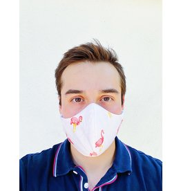 Fashion Face Masks Flamingo - Adult