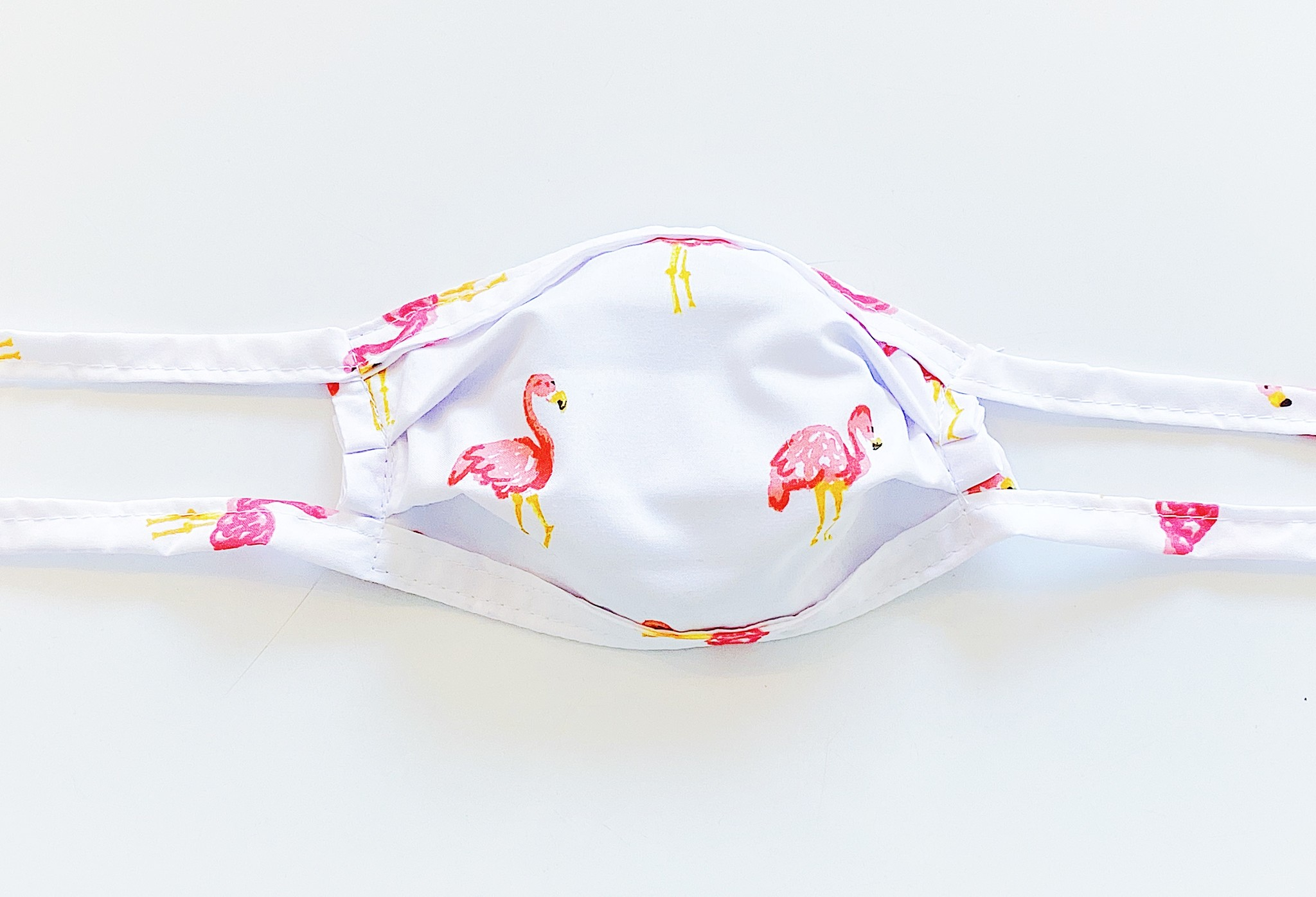 Fashion Face Masks Flamingo - Kids/ Adult Small