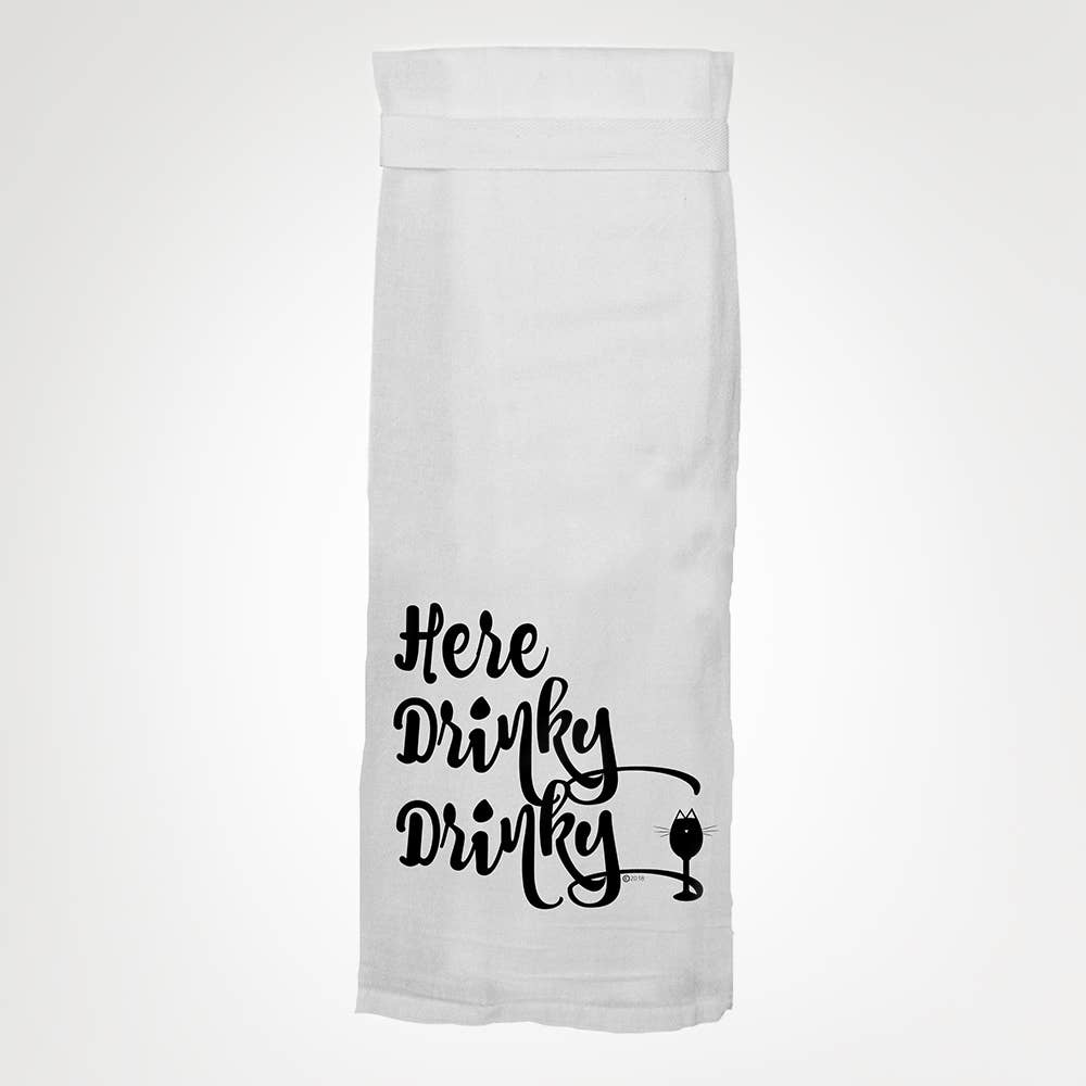 Here Drinky Drinky Tea Towel
