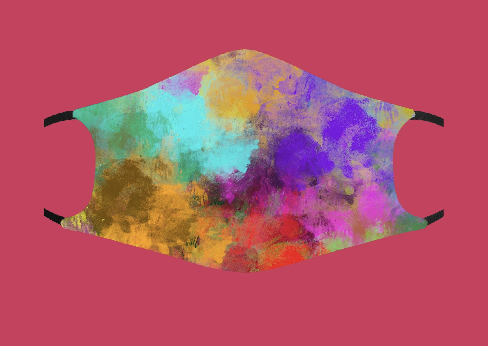Fashion Face Mask - Color Burst - Adult