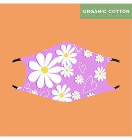 Fashion Face Mask - Daisy Organic Cotton - Kids/Adult Small