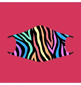 Fashion Face Mask - Funky Zebra - Adult