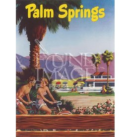Palm Springs Tandem Bike Postcard