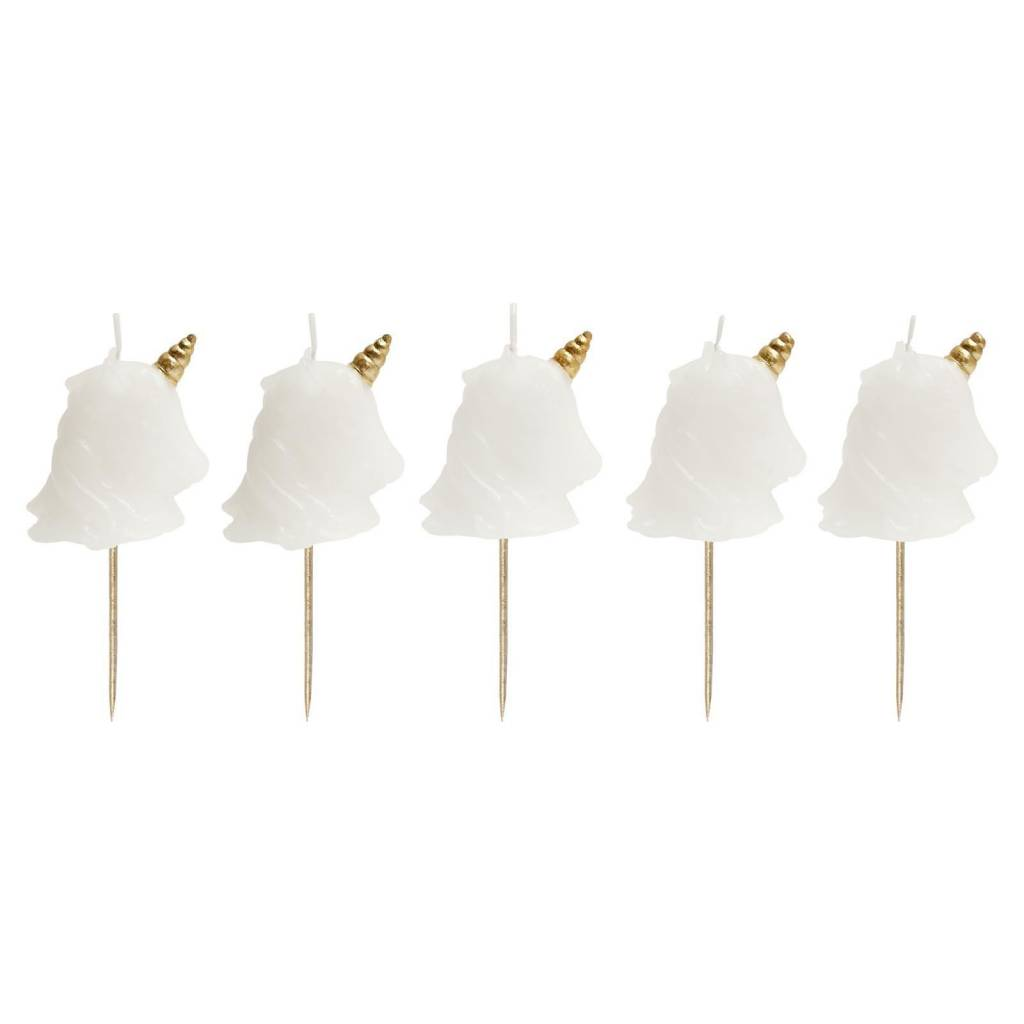 Unicorn Cake Candle (Set Of 5)