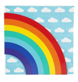Napkins And Holder Rainbow