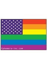 Rainbow American Flag Magnet