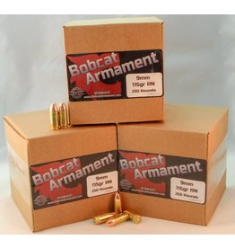 Bobcat Armament 9mm -  115gr RN Bulk Packs