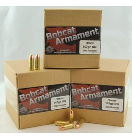 Bobcat Armament 9mm -  147gr RN Bulk Packs