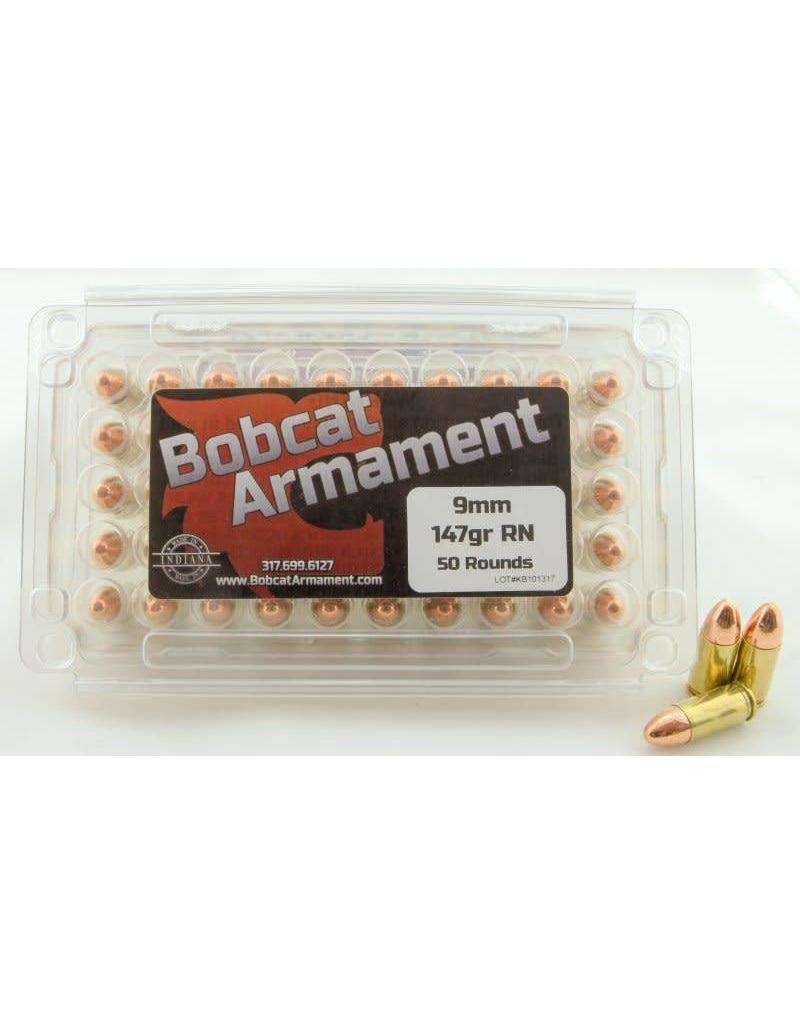 Bobcat Armament 9mm -  147gr RN 50 count