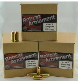 Bobcat Armament 45 ACP -  230gr RN Bulk Packs