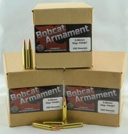 Bobcat Armament 5.56 NATO -  55gr FMJ Bulk Packs