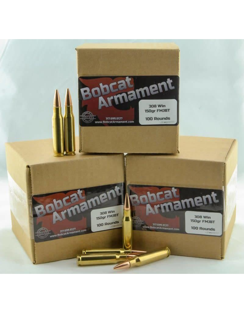 Bobcat Armament 308 Win -  150gr FMJ Bulk Packs