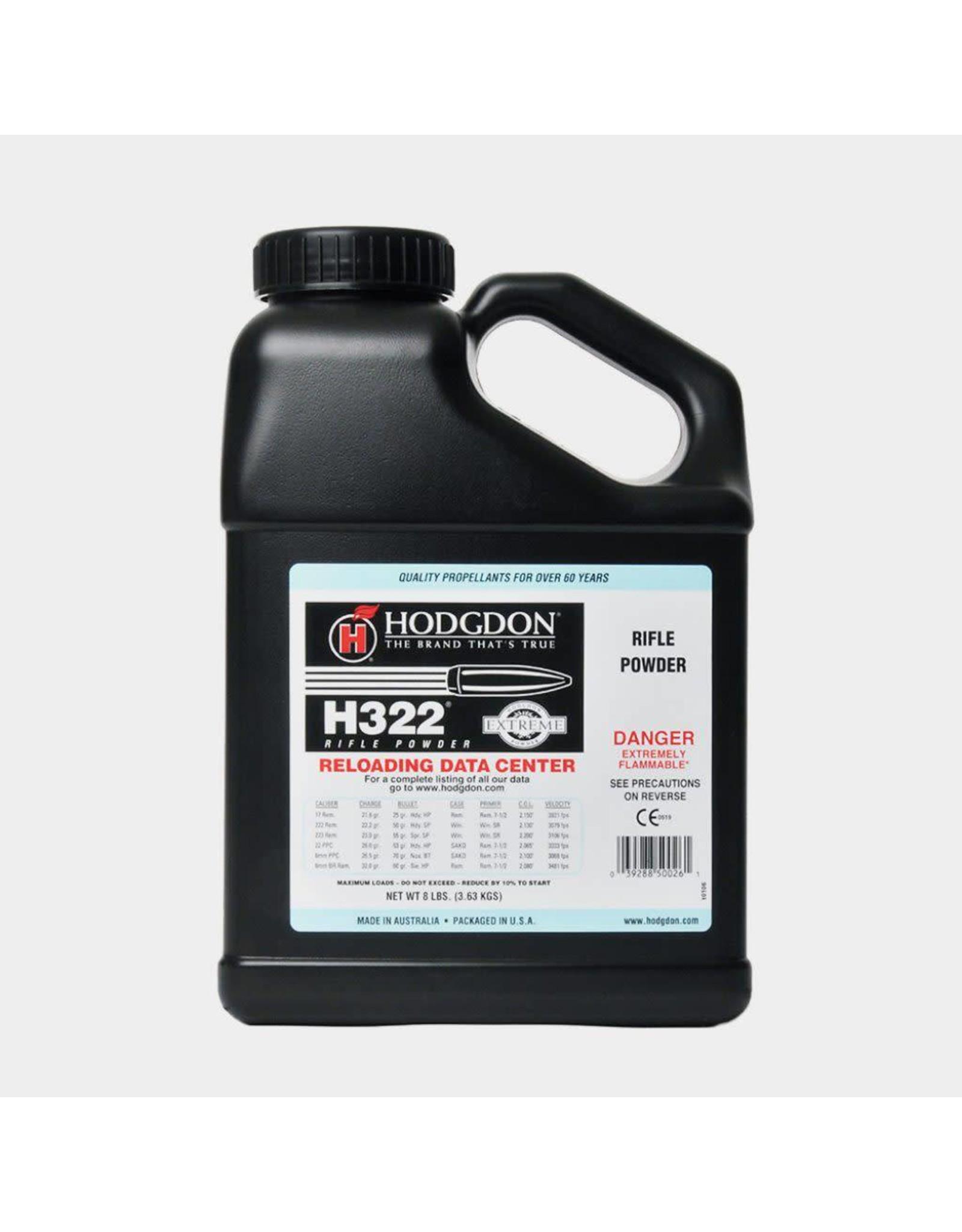 Hodgdon Hodgdon H322 - 8 pound