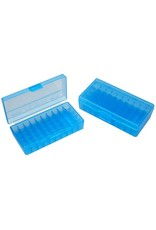 MTM Case Gard MTM Pistol Case - Blue Flip Top - 38/357 - 50rd