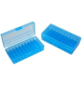 MTM Case Gard MTM Pistol Case - Blue Flip Top - 38/357 - 50rd