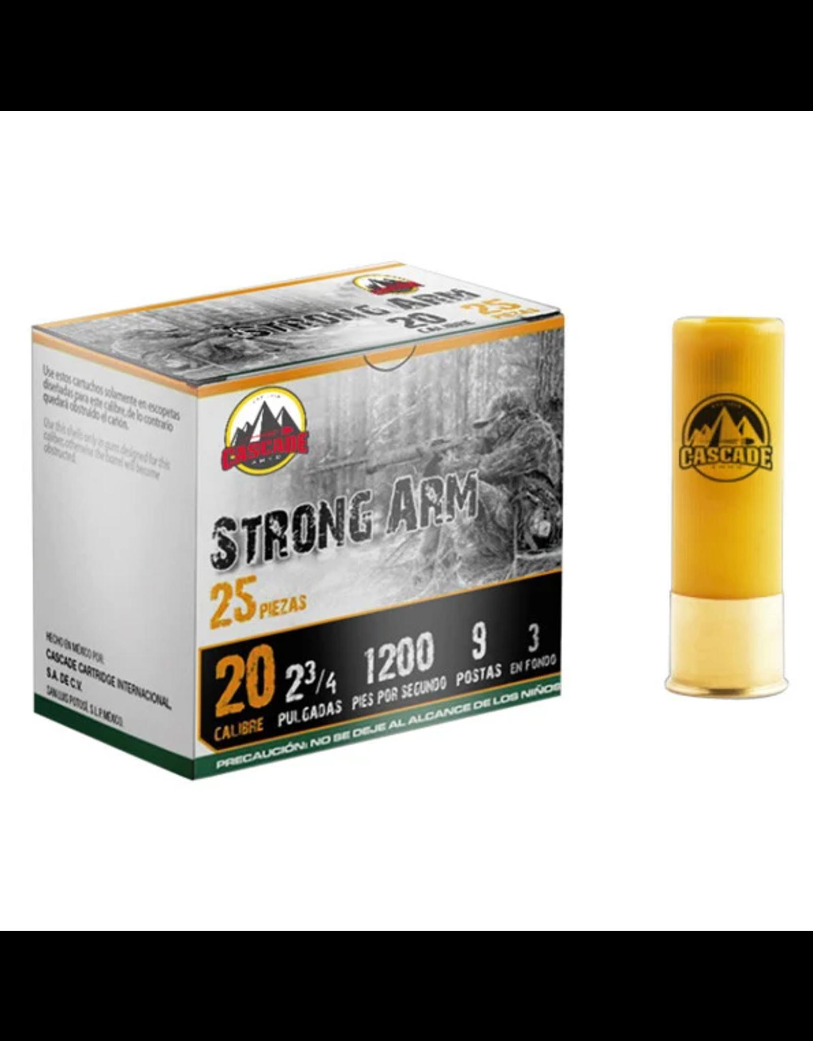 "Cascade Ammo Cascade - 20ga 2-3/4"" Buck Strong Arm - #2B-9 - 25ct"