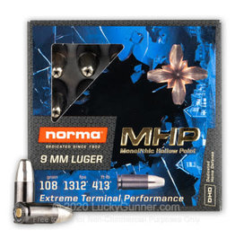 Norma Norma - 9mm - 108gr Monolithic HP - 20ct