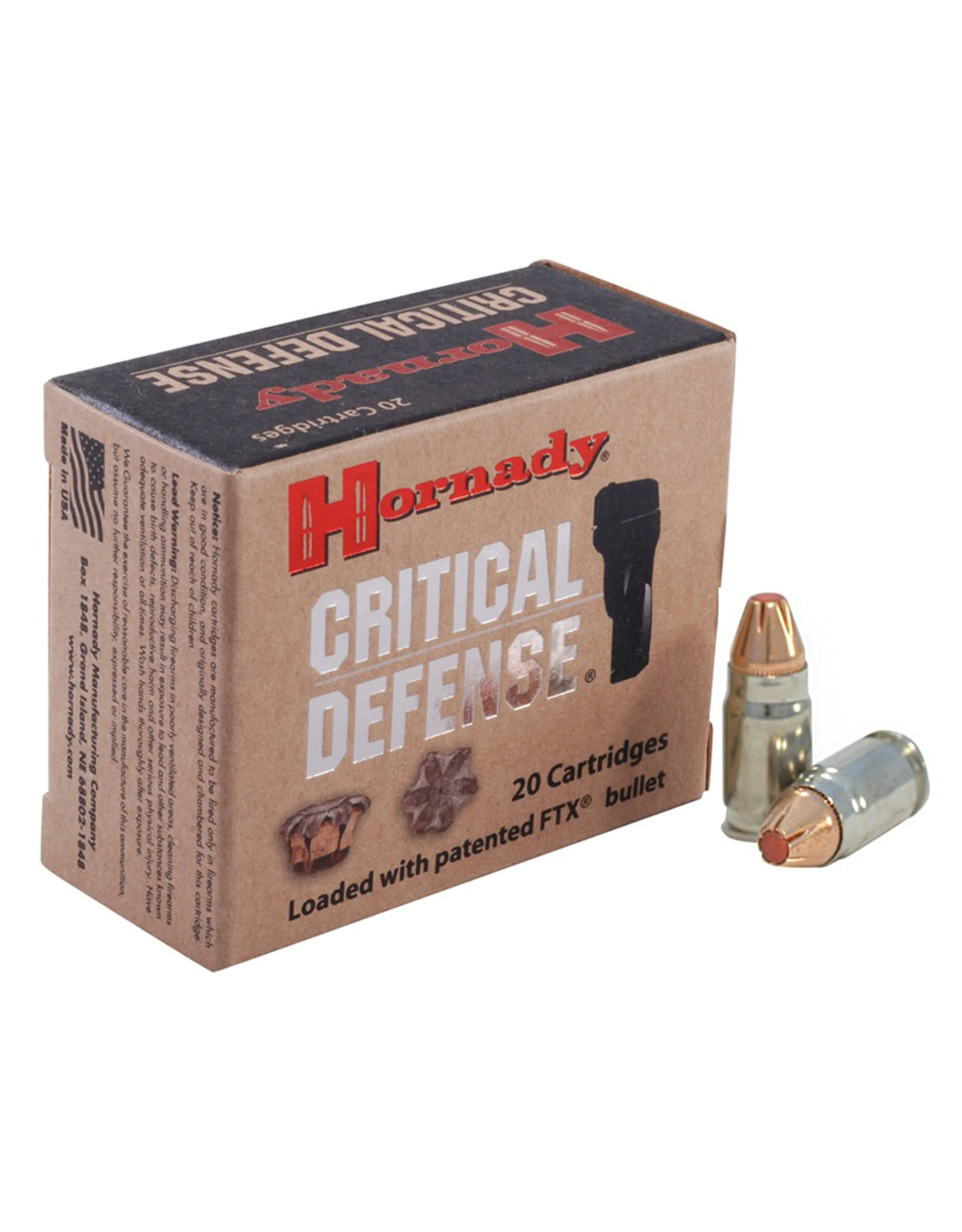Hornady Hornady - 357 Sig - 115gr Critical Defense FTX - 20ct