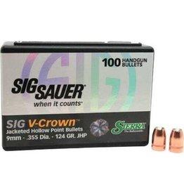 """Sierra Sierra (.355"""") - 124gr V-Crown - 100 count"""