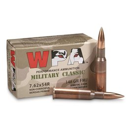 Wolf Wolf - 7.62x54R - 148gr FMJ Military Classic - 20ct