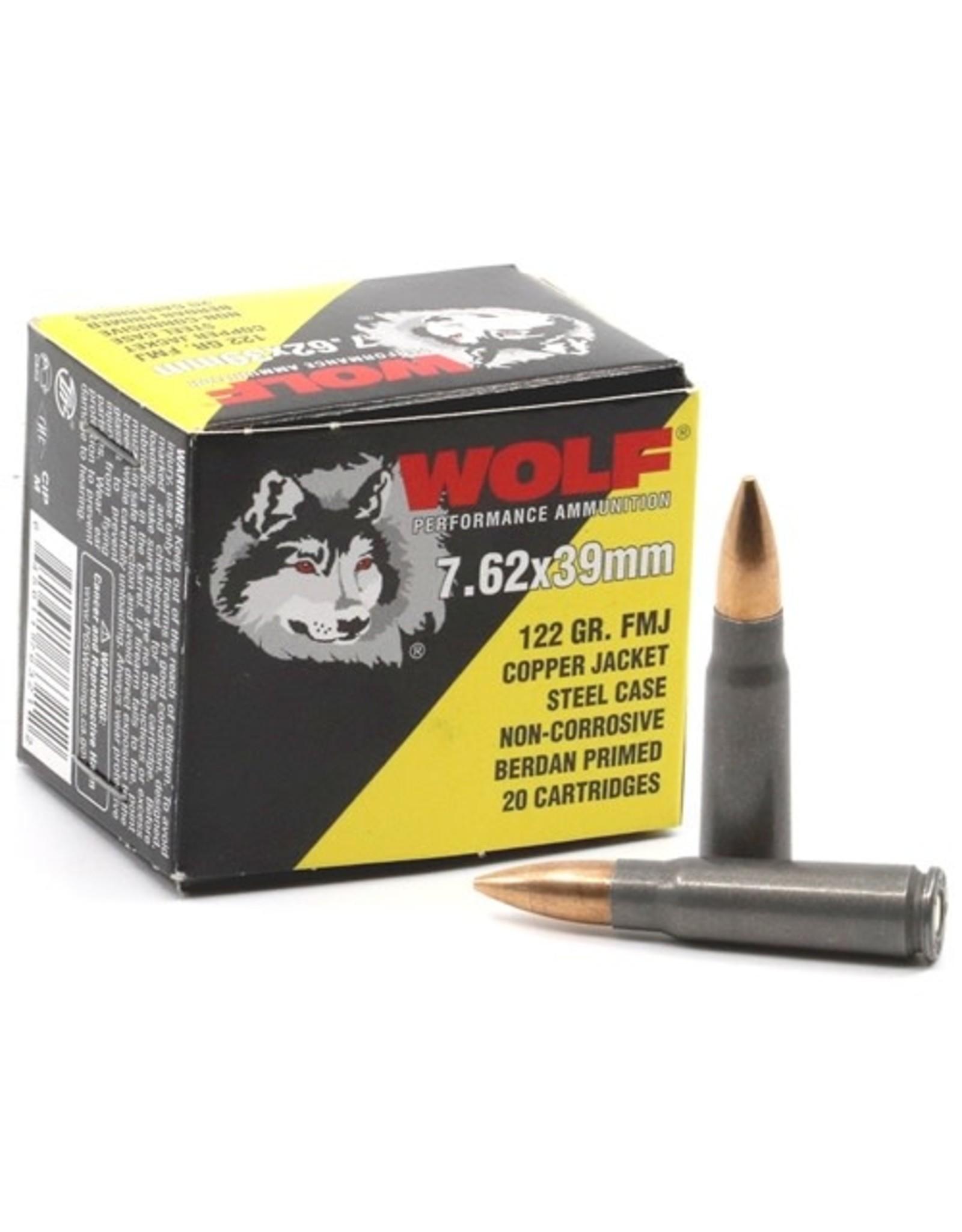 Wolf Wolf - 7.62x39 - 122gr CFMJ Performance - 20ct