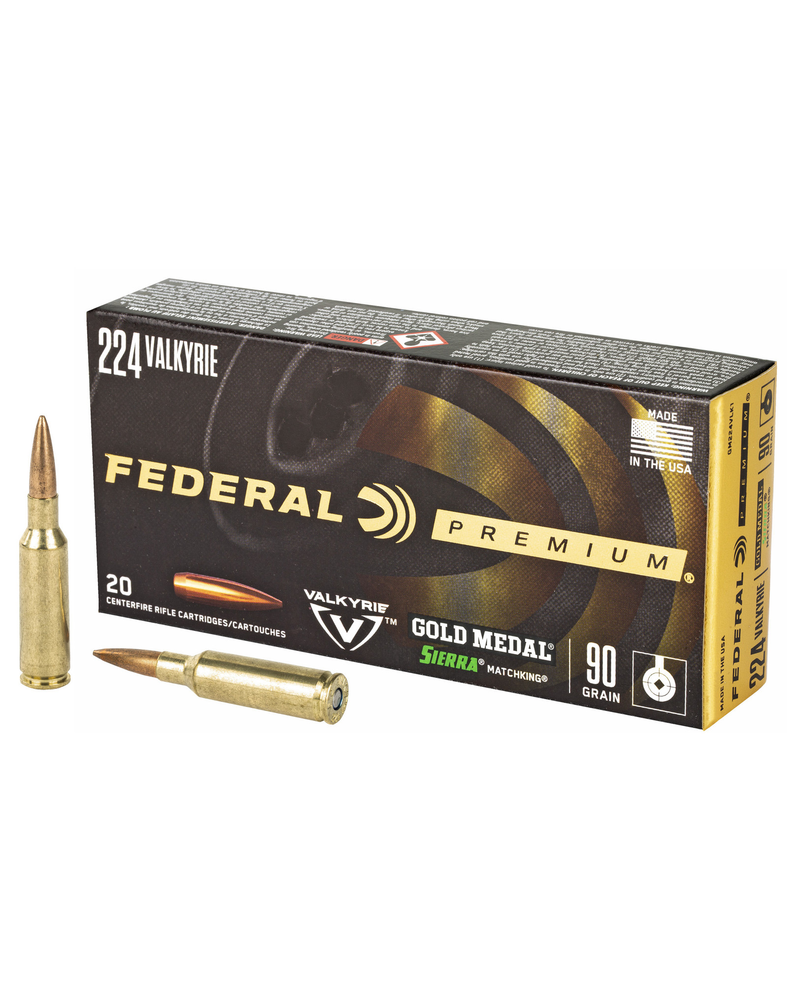Federal Federal - 224 Valkyrie - 90gr Matchking - 20rd