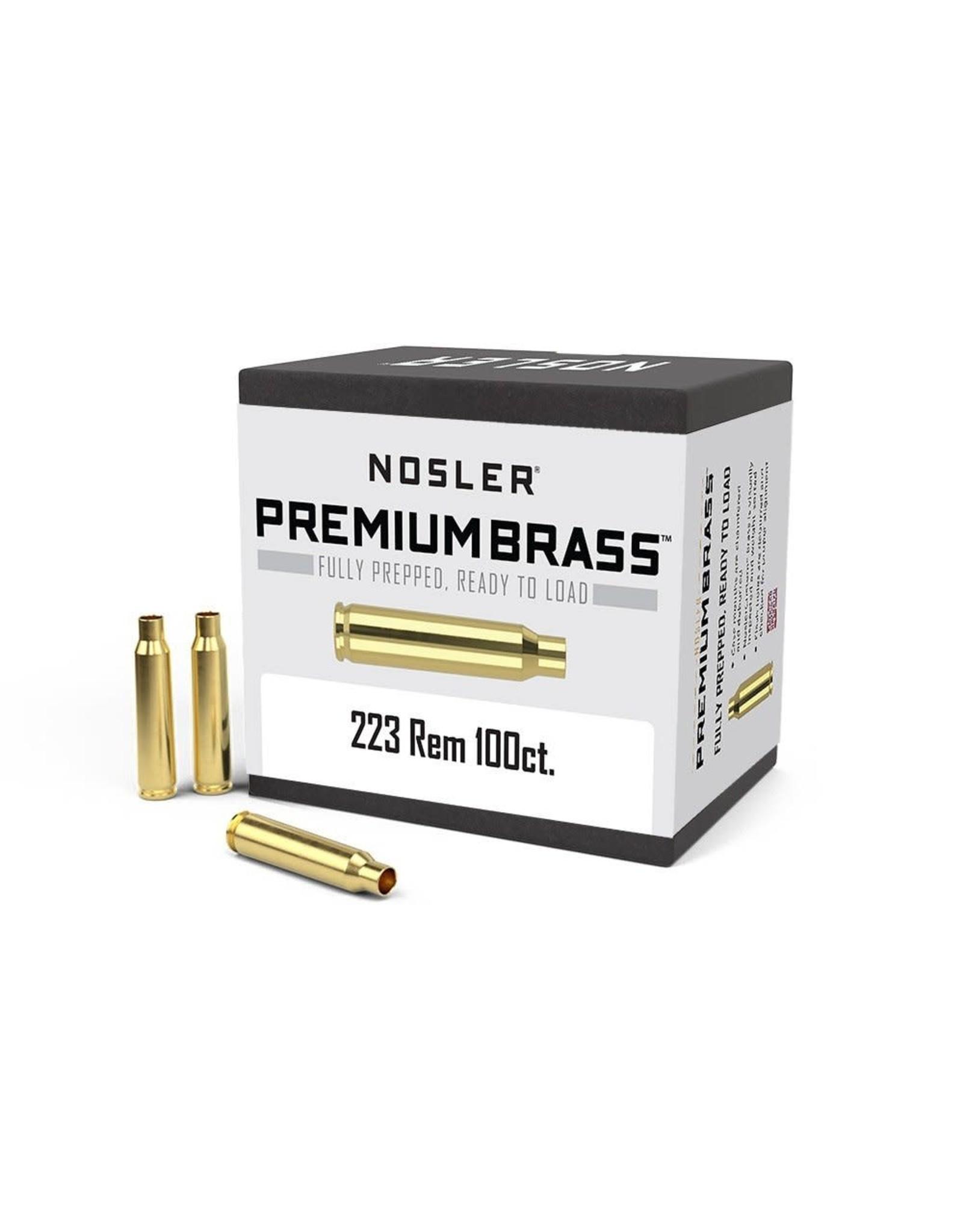 Nosler Nosler - 223 Remington Brass - 100 count