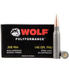 Wolf Wolf - 308 Win - 145gr FMJ Polyformance - 20ct
