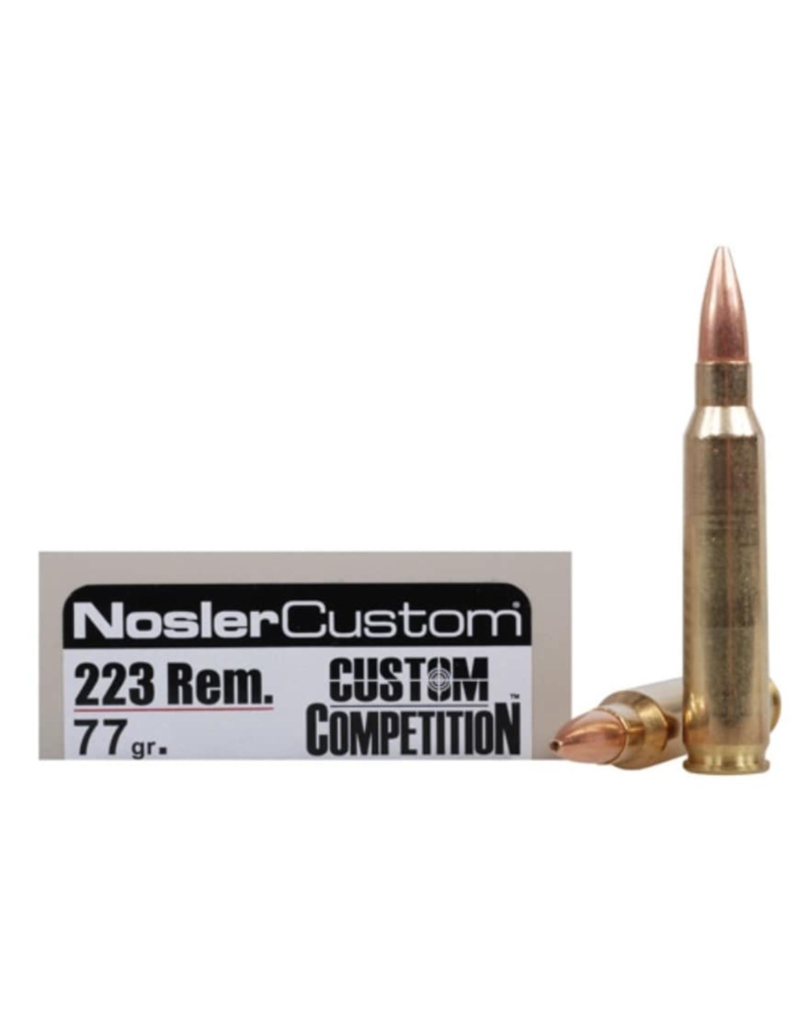 Nosler Nosler - 223 Rem - 77gr Custom Match - 20ct