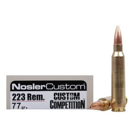 Nosler Nosler - 223 Rem - 77gr Custom Match - 20ct