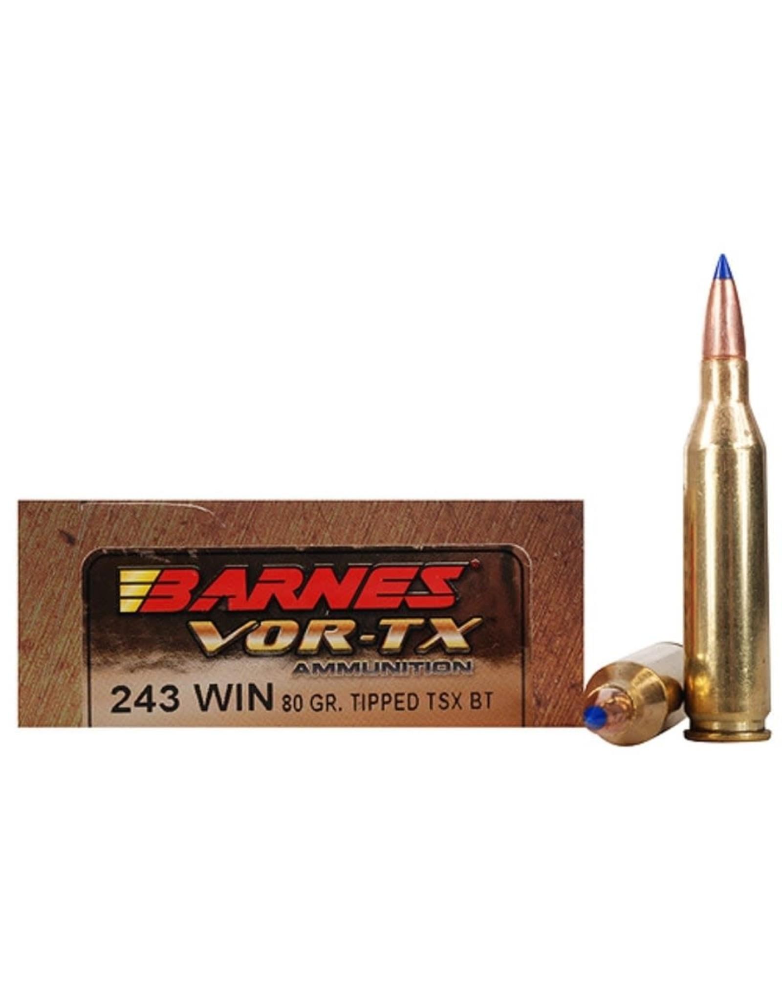 Barnes Barnes - 243 Win - 80gr Vor-Tx - 20ct