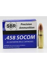 SBR Ammo SBR Ammo - 458 Socom - 350gr FMJ - 20 count